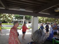 Playing with uke group from HOnolulu, HI called On the Beach