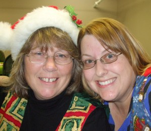 Cheryl and me at a potluck Christmas uke party, yeeeeears ago